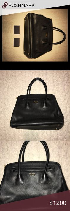 Prada Milano bag Big, black, and beautiful. The bag is in top quality and condition, Prada certificates inside to ensure authenticity. You can't go wrong with a big Prada Bag Prada Bags