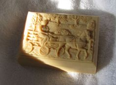 Do you know how hard it is to find something with a driving horse on it? Since we love driving too, this soap is part of our Surfing Goat Soap collection of goat milk soap.