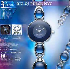 Con un 3er invitado, llévate este lujoso reloj con piedras azuladas...