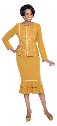 Susanna 2 piece skirt suit, knit fabric. Great church suit, work suit, evening suit, special occasion suit. In missy & plus sizes 8-24. #fitritefashions, #skirtsuit #churchsuit