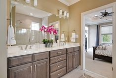 Luxury owner's bath - The Orchid at Truitt Homestead Home Decor Colors, Colorful Decor,