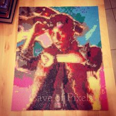 Marty McFly Back to the Future perler pixel art by caveofpixels