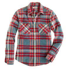 Wallace & Barnes broken twill shirt in glacier plaid - shirts - Men's new arrivals - J.Crew