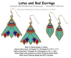 Lotus and Bud Earrings | Bead-Patterns