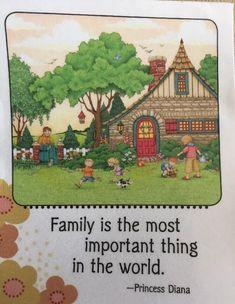 Mary Engelbreit Artwork-Family Is The Most-Handmade Fridge Magnets