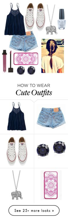 """""""Casual Summer Outfit"""" by caroflagrl on Polyvore featuring Levi's, Aéropostale, Mudd, Converse, OPI, Jouer and Boohoo"""