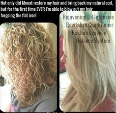 AMAZING results with MONAT, a new, naturally based hair care line.  MONAT works will ALL hair types!