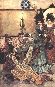 grimm fairy tale story evil stepmother illustration - Google Search