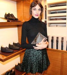 Alexa Chung Wears Louis Vuitton's Leopard Print Skirt - Coco's Tea Party