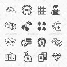Buy Casino and Gambling Vector Icons by ctrlaplus on GraphicRiver. Casino and Gambling Icons. Include - Vector - PNG transperent - PSD with pat. Casino Tattoo, Vegas Tattoo, Doodle Tattoo, Card Tattoo, Traditional Tattoo Dice, Dice Tattoo, Poker Tattoo, Tattoo Filler, Dibujos Tattoo