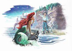 Disney Princess Ariel and Eric |