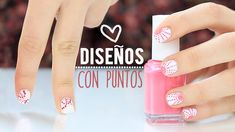 Diseños de uñas con puntos