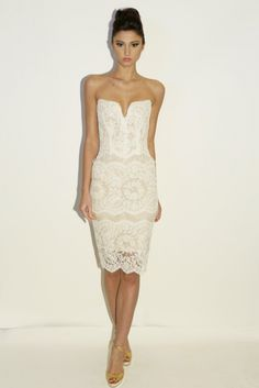 Wedding Dresses: Fall 2014: Short, Sheer and Tulle - enfianced