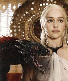 Daenerys Targaryen and Drogon ~ Game of Thrones