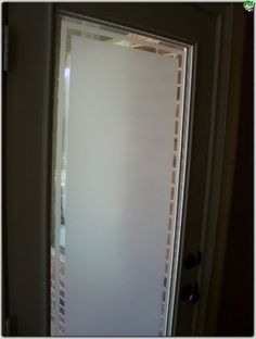 Cream Frosted Window Film- I'm thinking something like this for the sliding doors