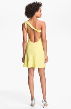 A.B.S. by Allen Schwartz Rosette One Shoulder Dress | Nordstrom