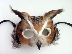Great Horned Owl / Venetian Specialty Custom Animal Mask   .....oh my God...   sooooo cute