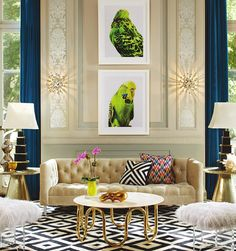 Genius inspiration #budgies via Jonathan Adler's Fall 2013 Catalog