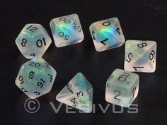 more moonstone dungeon & dragons dice ^-^