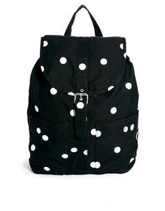 Image 1 ofMonki Gala Spot Print Backpack