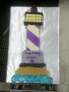 Lighthouse Cupcake Cake