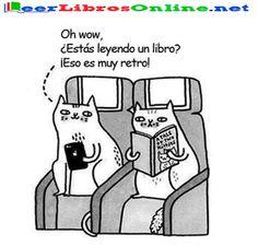 Gatos lectores