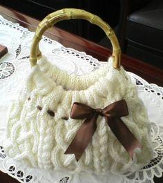 Cable Knit Bag アラン模様のニットバッグ1                                                                                                                                                     もっと見る