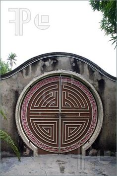 Picture of Traditional antique Chinese gate, with round design