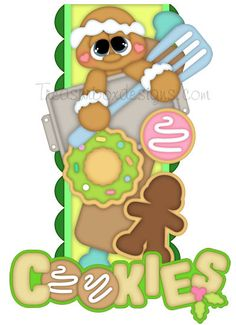 Vertical Border (Cookies) - Treasure Box Designs Patterns & Cutting Files (SVG,WPC,GSD,DXF,AI,JPEG)