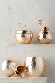 Discover the newest additions to Anthropologie's house & home collection. Shop new furniture, decor, storage & more for your home. Gold Home Decor, Diy Home Decor, Decorating Your Home, Interior Decorating, Mcintosh Apples, Gold Pineapple, Gold Candles, Farmhouse Kitchen Decor, Scented Candles