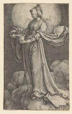 St. Mary Magdalene on the Clouds |  Lucas van Leyden (Netherlandish…