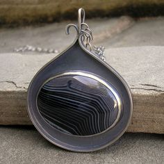 pendant with black agate