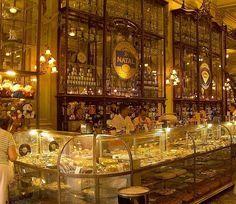 Confeitaria Colombo, a gorgeous Belle Epoque era arcade of shops, restaurants and bakeries - Rio de Janeiro.