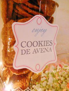 Cookies de avena en Shine a light Table de Süss Pastelería