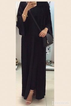 abaya and hijab image Niqab Fashion, Modern Hijab Fashion, Modesty Fashion, Hijab Fashion Inspiration, Muslim Fashion, Fashion Outfits, Khaleeji Abaya, Estilo Abaya, Mode Abaya