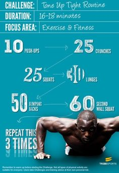 Tone up tight routine