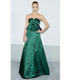 @Who What Wear - WHO: Natasha Poly  WHAT: amfAR 21st annual Cinema Against Aids gala.  WEAR: Marni emerald green silk satin strapless gown; Zagliani clutch.