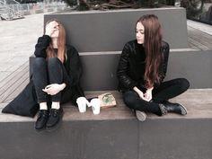 Imagen de girl, black, and grunge