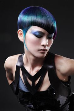 2019 Optimal Power Flow Exotic Hair Color Ideas for Hot and Chic Celebrity Hairstyles – Page 67 – My Beauty Note Funky Hairstyles, Celebrity Hairstyles, Exotic Hair Color, Creative Haircuts, Oil Slick Hair, Pelo Multicolor, Competition Hair, Art Visage, Creative Hair Color
