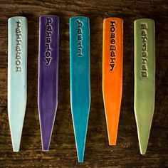 One Girl's Pottery Ceramic Herb Garden Markers