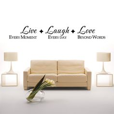 Live Laugh Love Wall Quote  Family Vinyl Wall Decal by WallsMore, $8.99