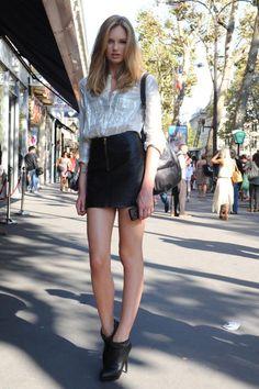 Romee Strijd #streetstyle #fashion #modeloffduty