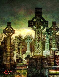 The graveyard at Killanny, County Monaghan, Ireland