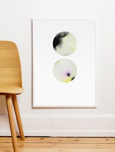 Twin Circles poster by Nynne Rosenvinge for Paper Collective. 50x70 cm. Shop this and other design posters at www.paper-collective.com