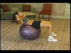 Ab exercises for sculpting on the stability ball