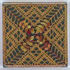 Image detail for -Autumn Coaster Torchon Bobbin Lace Pattern