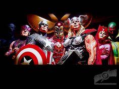 Alex Ross... Avengers Assemble!!