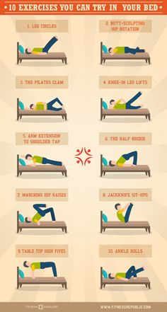 10 Exercises You Can Try In Your Bed | Fitness Republic