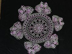 Tatted Butterfly Doily
