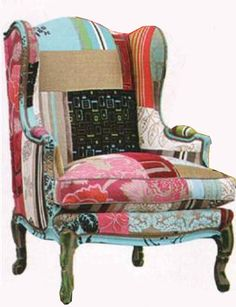 Pin By Enhancing Your Habitat On Kilim Patchwork Chair Fabric